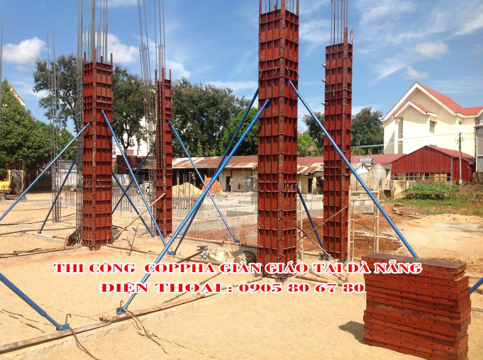 Cốp Pha thép cột vuông - Thi công cốp pha thép cột tại Đà Nẵng